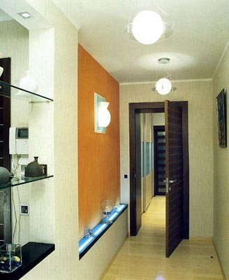 длинный коридор дизайн