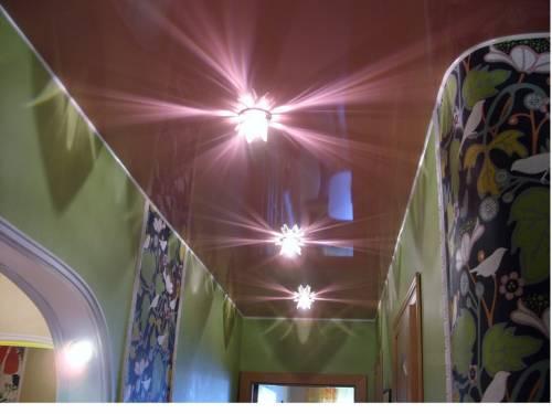 Потолок в коридор дизайн